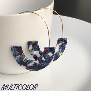 "Jewelry - NEW ""Camellia"" U Acrylic Earrings (multicolor)"